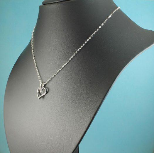 Silver & CZ Pendant N-0190-k