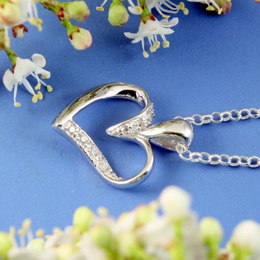 Silver & CZ Pendant N-0190-l