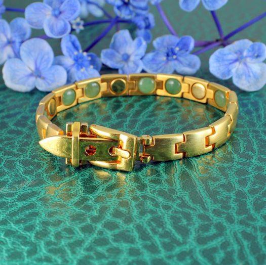Gold Buckle Bracelet B-0123-a