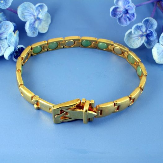 Gold Buckle Bracelet B-0123-b