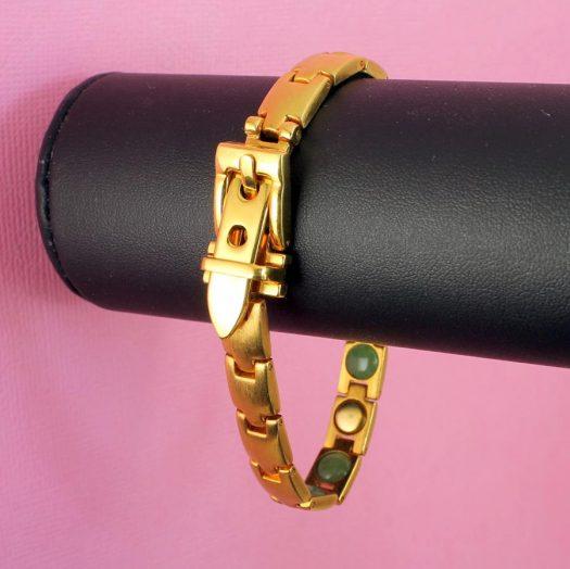 Gold Buckle Bracelet B-0123-c