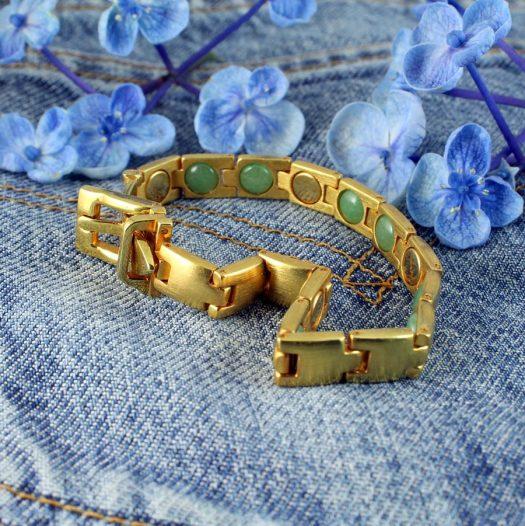 Gold Buckle Bracelet B-0123-d