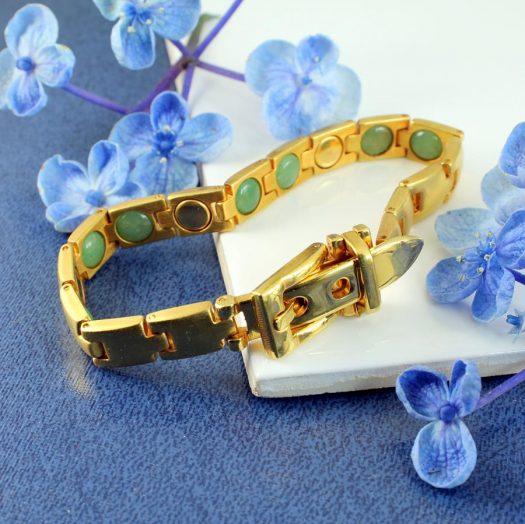 Gold Buckle Bracelet B-0123-h