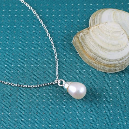 Solitaire Pearl Pendant N-0193-a