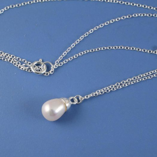 Solitaire Pearl Pendant N-0193-d
