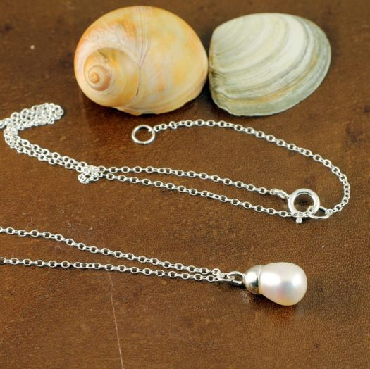 Solitaire Pearl Pendant N-0193-f