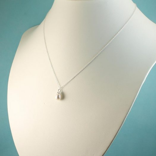 Solitaire Pearl Pendant N-0193-g