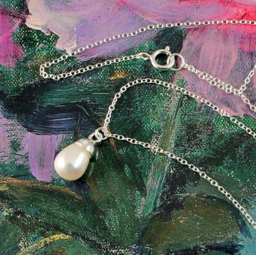 Solitaire Pearl Pendant N-0193-i