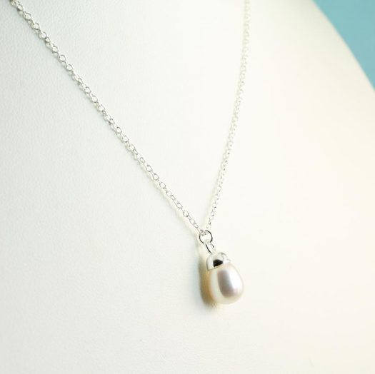 Solitaire Pearl Pendant N-0193-j